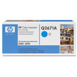 HP 309A/Q2671A lasertoner, blå 4000s