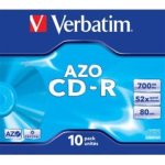Verbatim AZO CD-R 700MB, Jewelcase, 10 stk