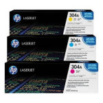 HP 304A/CF372AM lasertoner, 2800s, tri-pack