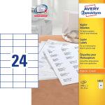 Avery 18037 kopietiktetter, 37 x 70mm, 2400stk