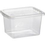 Basic plastboks inkl låg, 8,0 liter, Klar