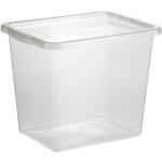 Basic plastboks inkl låg, 31 liter, Klar