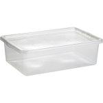 Basic plastboks inkl låg, 30 liter, Klar