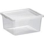 Basic plastboks inkl. låg, 2,3 liter, Klar