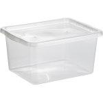 Basic plastboks inkl låg, 20 liter, Klar