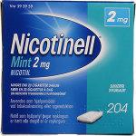Nicotinell Mint Tyggegummi, 2 mg, 204 stk.