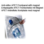 Antirefleks frontplade 53x73 m/magnet
