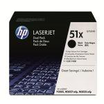 HP nr.51X/Q7551XD lasertoner, sort, 13500s, 2pk