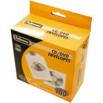Fellowes Cd/dvd papir lommer, 100 stk.