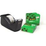 Scotch Magic 4 ruller tape + 1stk dispenser sort
