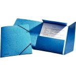 Esselte elastikmappe m/klap, A4 karton, blå