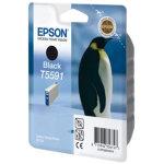 Epson nr.T5591/C13T55914010 blækpatron, sort, 520s