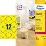 Avery promotion etiket L7670Y - Ø63,5 mm, neon gul