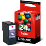 LEXMARK nr. 24, 018C1524E, farve patron