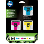 HP nr.363/CB333EE blækpatroner, sampak, 3stk