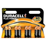 Duracell Plus Power AA-batterier, 8 stk.