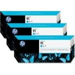 HP nr.91/C9483A blækpatron, blå, 3-pak