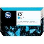 HP nr.80/C4846A blækpatron, blå, 350 ml