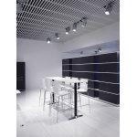 Switch højt konferencebord bøg fin. sort/kromstel