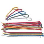 Kabelstrips ass. farver, 50 stk. 160 x 3 mm