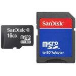 SanDisk microSDHC 16GB + SD-adapter