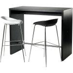 Detroit højt mødessæt bord med 2 hvide stole
