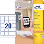 Avery L7121-25 etiketter til QR koder, 45x45mm
