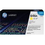 HP 646A/CF032A lasertoner, gul, 12500s.