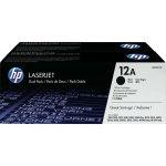 HP 12A/Q2612AD lasertoner, sort, 2000s dual-pack