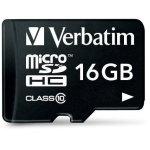 Verbatim 16GB microSDHC class 10 m/adapter