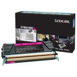 Lexmark X746A1MG lasertoner, rød, 7000 s.