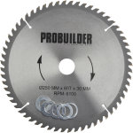 Probuilder klinge, 250x30x3 mm, t60
