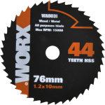 Worx rundsavsklinge, 76 mm, 44t