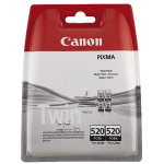Canon PGI-520 twin-pack blækpatron, sort, 2 x 19ml