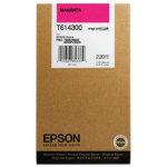 Epson C13T614300 blækpatron, rød, 220ml