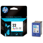HP 22/C9352AE blækpatron, farve, 165s