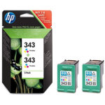 HP 343/CB332EE blækpatron, farve, 2x 660s