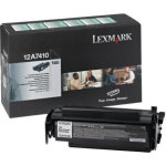 Lexmark 12A7410 lasertoner, sort, 5000s