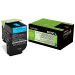 Lexmark 802HC/80C2HC0 lasertoner, blå, 3000s