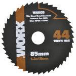 Worx rundsavsklinge, 85 mm, 44t