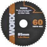 Worx rundsavsklinge, 85 mm, 60t
