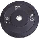 Titan Bumper Plate, 15 kg