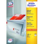 Avery 6131 etiketter på A5 ark, 70 x 36mm