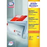 Avery 6132 etiketter på A5 ark, 97 x 42,3mm