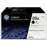 HP 05A/CE505D lasertoner, sort, 2 x 2300 s.