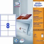 Avery 3660 uni.etiketter, 97 x 67,7mm, hvide