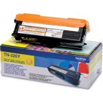 Brother TN320Y lasertoner, gul, 1500s