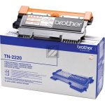 Brother TN2220 lasertoner, sort, 2600s