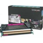 Lexmark C734A1MG lasertoner, rød, 6000s