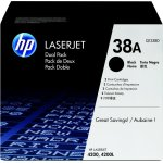 HP nr.38A/Q1338D lasertoner, sort, 12000s, 2pk